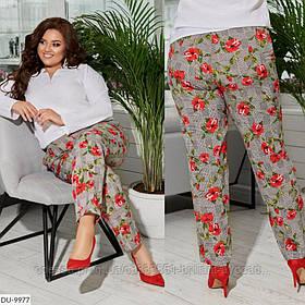 Женские прохладные брюки большого размера