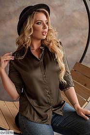 Женская шёлковая рубашка большого размера