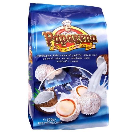Вафельні кульки PAPAGENA, з кокосом, 300г