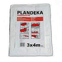Тент Брезент Пландека Тарпаулин защитный (70g\m2) 3x4 Польша белый (Wimar)