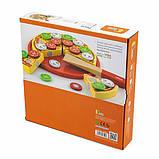 Игрушечные продукты Viga Toys Пицца из дерева (58500), фото 4