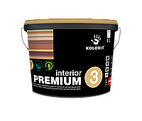 Краска латексная для внутренних работ Колорит  Интерьер Премиум 3, база А  2.7 л