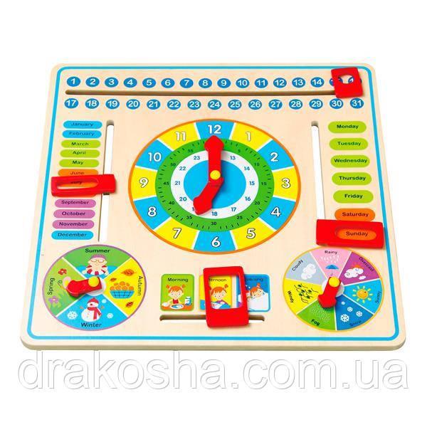 """Игрушка Viga Toys """"Часы и календарь"""" (59872)"""