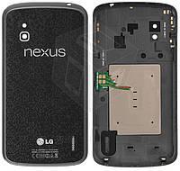 Задняя крышка батареи для LG Nexus 4 E960, черная, оригинал