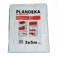 Тент Брезент Пландека Тарпаулин защитный (70g\m2) 3x5 Польша белый (Wimar)