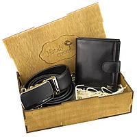 Мужской подарочный набор Rovicky 01-106 (ремень и портмоне)