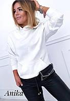 Женский свитшот с трехнитки на флисе(42-52)