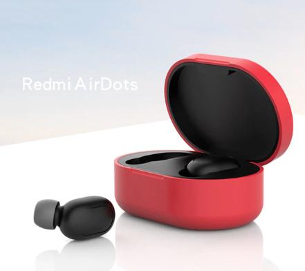 Чехол для наушников Xiaomi Redmi AirDots Цвет Красный TWS Bluetooth Silicone Case