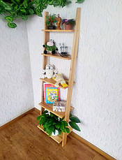 """Стеллаж лестница для гостиной из массива дерева """"Стелла"""" от производителя, фото 2"""