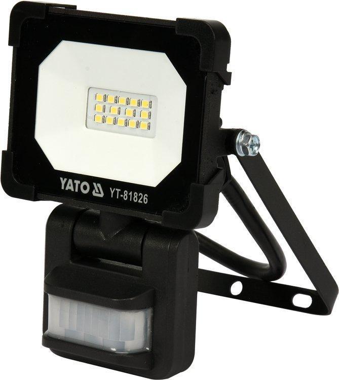 Светодиодный прожектор | с датчиком движения | SMD LED 10W 900LM YATO YT-81826