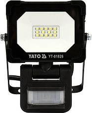 Светодиодный прожектор | с датчиком движения | SMD LED 10W 900LM YATO YT-81826, фото 3