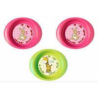 Набор детской посуды Nuvita тарелочки 6м+ 3шт. глубокие розовые и салатовая (NV1422Pink)