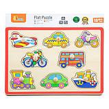 Деревянная рамка-вкладыш Viga Toys Цветной транспорт (50016), фото 2