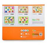 Деревянная рамка-вкладыш Viga Toys Цветной транспорт (50016), фото 3