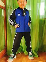 Спортивный детский костюм Adidas для мальчика синий