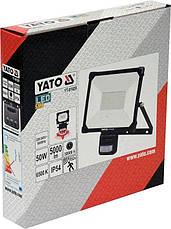 Світлодіодний прожектор | з датчиком руху | SMD LED 50W 5000LM YATO YT-81829, фото 3