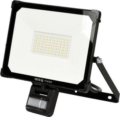 Світлодіодний прожектор | з датчиком руху | SMD LED 50W 5000LM YATO YT-81829