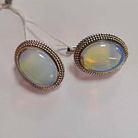 Сережки зі срібла з Місячним каменем Сільвія, фото 1