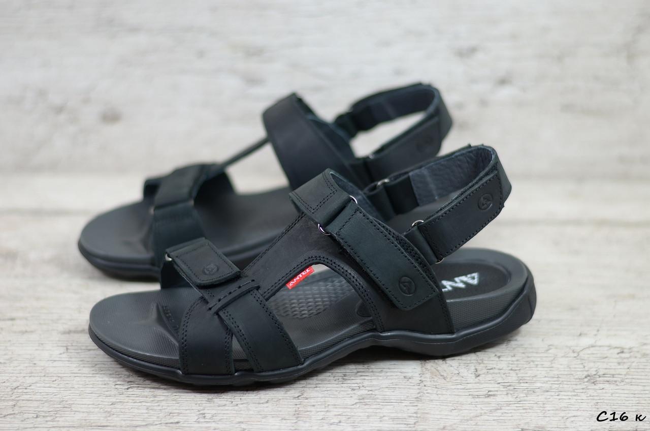 Мужские кожаные сандалии Antec (Реплика) (Код: С16 к  ) ►Размеры [40,41,42,43,44,45]