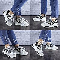 Женские бежевые кроссовки Parry 1727 Эко-кожа  Размер 37 - 22,5 см по стельке, обувь женская