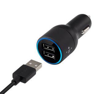 Автомобильное зарядное устройство Belkin 2 USB-порта + кабель MicroUSB, фото 2
