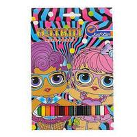 Карандаши цветные 18 цв. «Девочки»