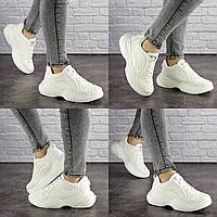 Женские белые кроссовки Alien 1699 Текстиль  Размер 39, обувь женская