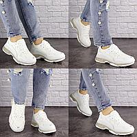 Женские белые кроссовки Badlands 1522 Эко-кожа  Размер 37 - 23,5 см по стельке, обувь женская