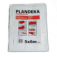 Тент Брезент Пландека Тарпаулин защитный (70g\m2) 5x6 Польша белый (Wimar)