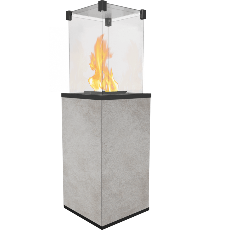 Садовый камин газовый KRATKI PATIO в версии OXIDE GRIGIO
