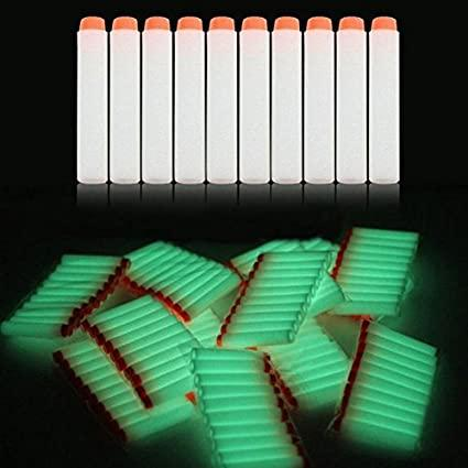 Нерф патроны 10 шт. для бластеров Nerf Светятся в темноте
