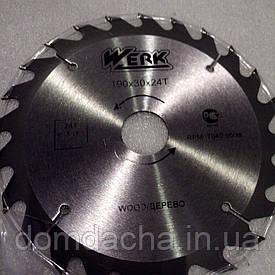 Пильный диск по дереву Werk (190*32*24Т)