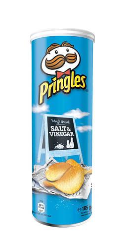 Чіпси Pringles Salt & Vinegar, сіль та оцет, 165г, фото 2