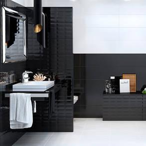 Плитка облицовочная Opoczno Pret-a-Porter BLACK GLOSSY, фото 2