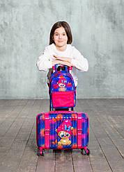 Набор чемодан детскийкласса премиум3-D Мишка DeLune Lune 002