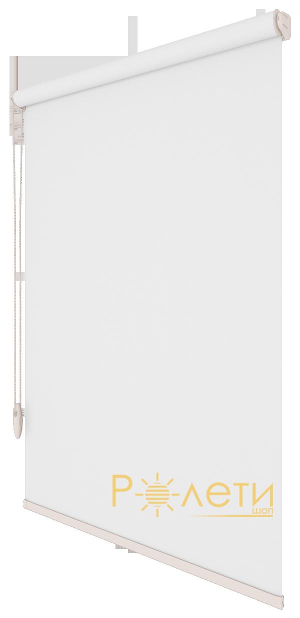 Ролета тканевая Е-Mini Камила Белый A601 / 1225 мм