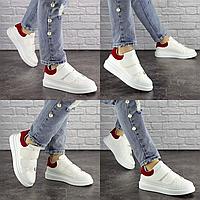 Женские белые кроссовки Manfred 1669 Эко-кожа  Размер 38 - 24 см по стельке, обувь женская