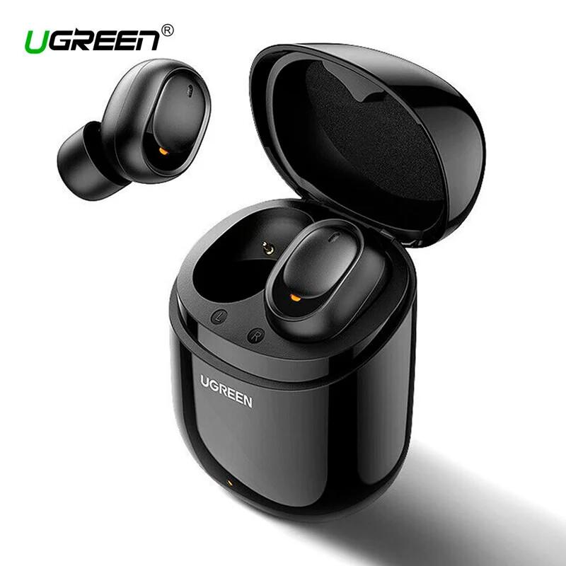 Бездротові Bluetooth-навушники 5.0 UGREEN CM338 TWS True Wireless Stereo, Black