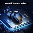 Бездротові Bluetooth-навушники 5.0 UGREEN CM338 TWS True Wireless Stereo, Black, фото 4