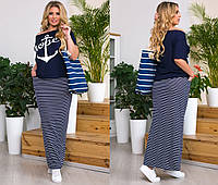 Костюм женский юбка и футболка  42944, фото 1