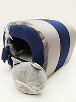 Будка туннель для собак и котов Комфорт лето синяя