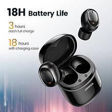 Бездротові Bluetooth-навушники 5.0 UGREEN CM338 TWS True Wireless Stereo, Black, фото 3