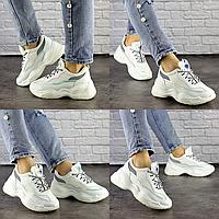 Женские белые кроссовки Noiraud 1496 Эко-кожа  Размер 39 - 25 см по стельке, обувь женская