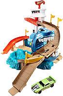 Трек Хот Вилс Охота на акулу серии Измени цвет Атака Акулы Hot Wheels Color Shifters Sharkport Showdown, фото 1