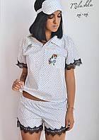Женская Пижама с кружевом