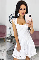 Платье женское летнее повседневного стиля прошва 42-48р.,цвет белый