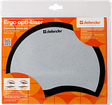Коврик для мышки DEFENDER Ergo opti-laser Black пластиковый (черный), фото 2