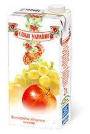 """Соки ТМ """"Соки Украины"""" виноградно-яблочный 2л"""