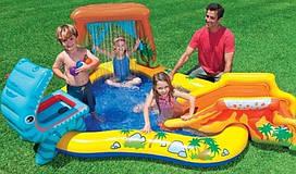Водный надувной игровой центр Intex 57444 Dinosaur Play Center (249x191x109 см), 216 л