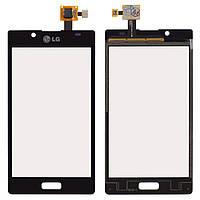 Сенсор (тачскрин) LG Optimus L7 P700, Optimus L7 P705 (original) Black
